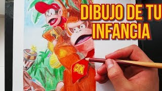 Donkey Kong| Dibujo de tu infancia| SPEED DRAWING|Donkey Kong Country