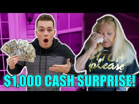 SURPRISING GRANDMOM WITH $1,000 CASH TO BUY WHATEVER SHE WANTS!