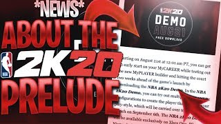 NBA 2K20 PRELUDE & PLAYER CREATION ANNOUNCED PRELUDE RELEASE DATE MULTIPLE PLAYER BUILDS & MORE