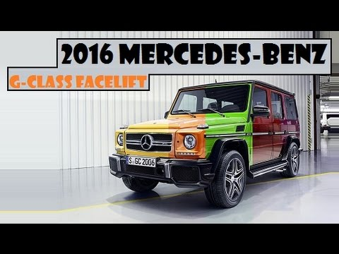 2016 Mercedes-Benz G-Class Facelift, upgraded suspension ...