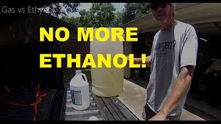 How to easily extract ethanol out of gasoline.