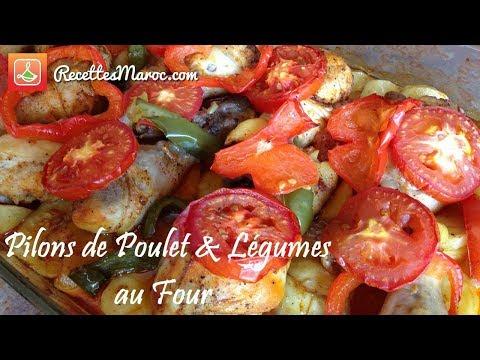 recette-pilons-de-poulet-&-légumes-au-four