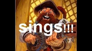 the awesome hidden song of Russell the Bard Hearthstone  Interaction