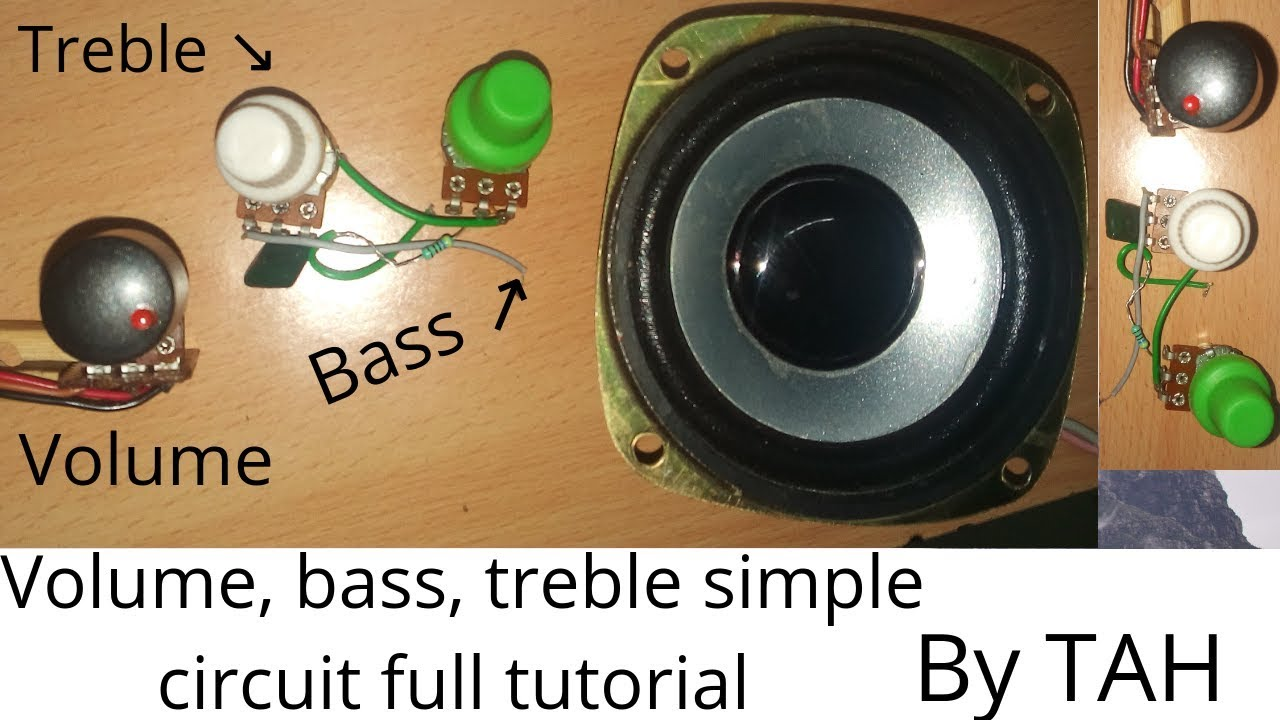 Volume, bass, treble audio control circuit 100% working /sound volume/ by  techniques at home