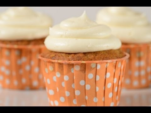 Carrot Cupcakes Recipe Demonstration - Joyofbaking.com