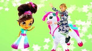 Видео для детей — Про принцессу Неллу, игрушки для девочек и тортики