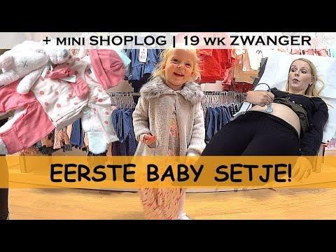 BABYKLEERTJES KOPEN + BABY HARTJE LUiSTEREN ( 19 weken zwanger) | Bellinga Family Vlog #775