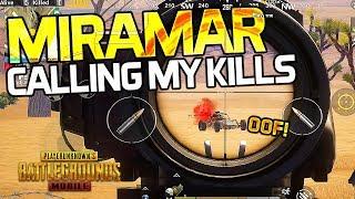 PREDICTING MY TOTAL KILLS - MIRAMAR M4/SLR ACTION - PUBG Mobile