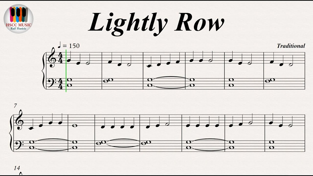 top lightly row piano notes with letters images for lightly row piano 763