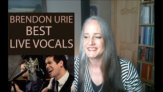 Voice Teacher Reaction to Brendon Urie's Best Live Vocals   Panic at the Disco
