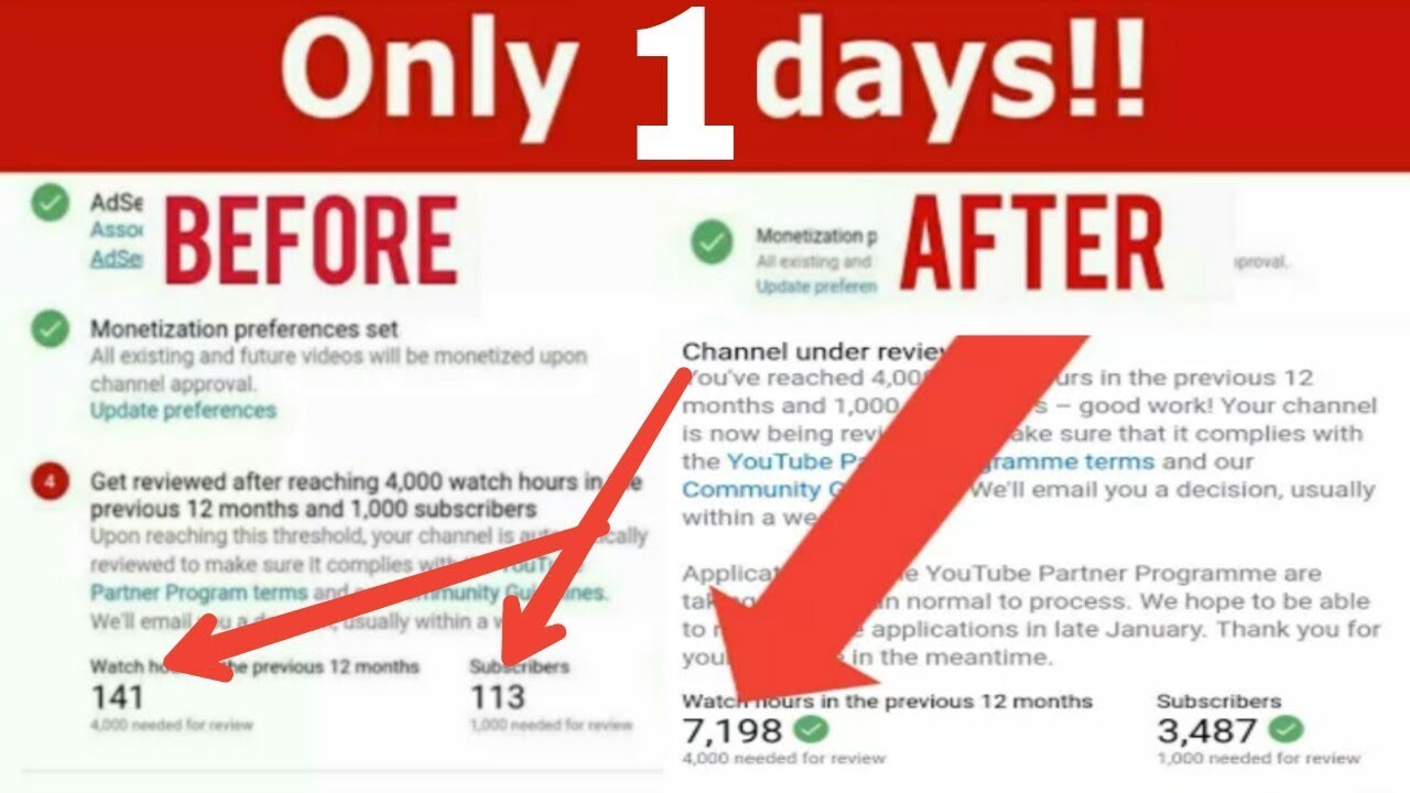 How to get 1000 Subscribers & 4000 Hours Watch Time in 7 days on youtube  2018 quickly | in Hindi