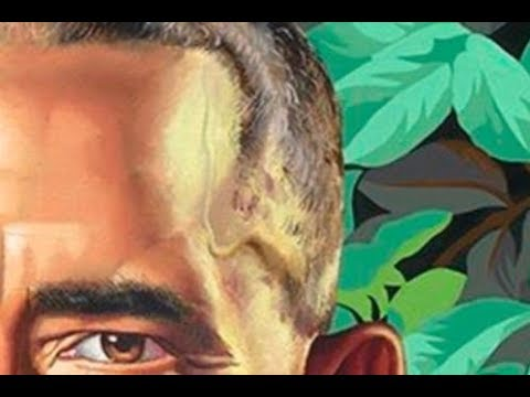 SPERM in plain SIGHT on Obama's new OFFICIAL PORTRAIT!