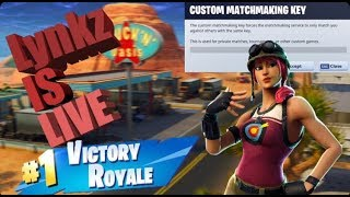 UE CUSTOM MATCHMAKING SCRIMS!! Toutes les plates-formes (Fortnite bataille royale) 'Account Giveaway LIVE'