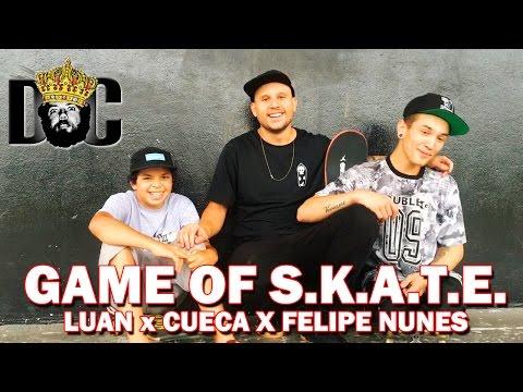 El juego de Skate entre Luan, Cueca y Felipe Nunes