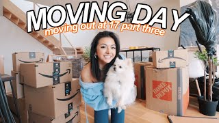 FINALLY MOVING INTO MY NEW HOUSE | MOVING OUT AT 17 PART 3