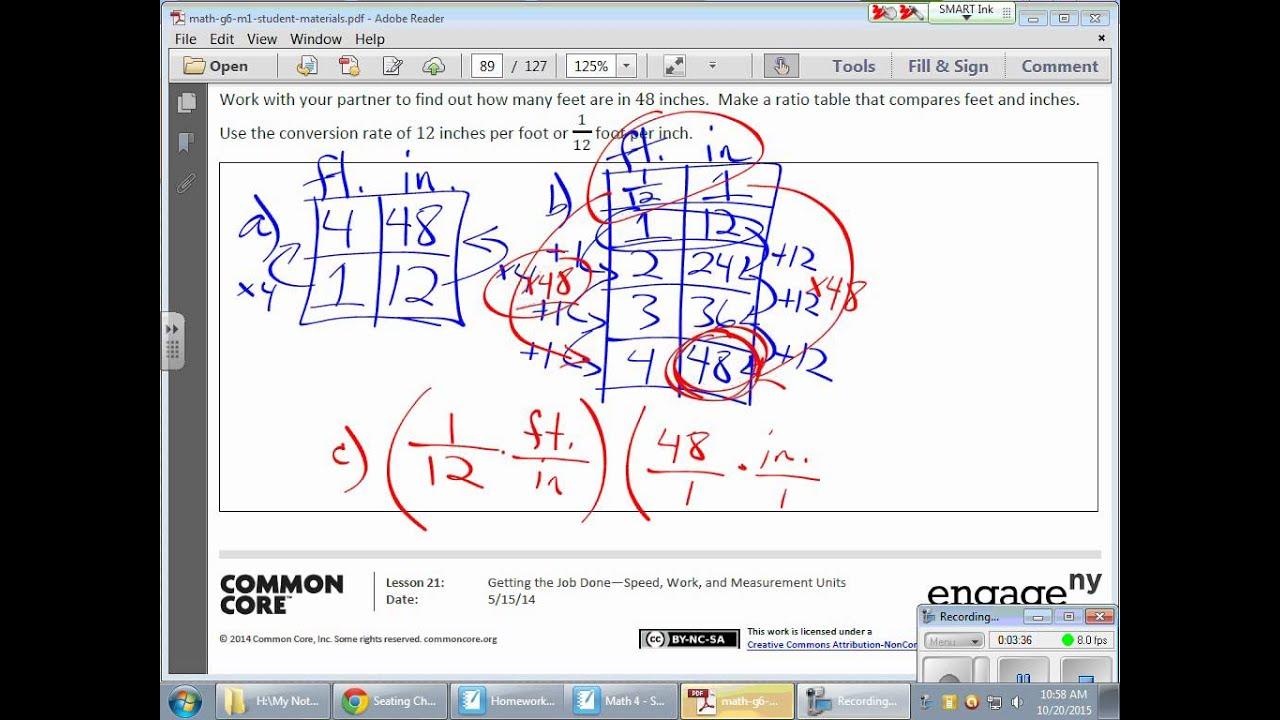 Grade 6 Module 1 Lesson 21