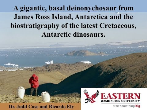 Gigantic, Basal Deinonychosaur from Antarctica & Biostratigraphy of Cretaceous Dinosaurs- Dr. Case