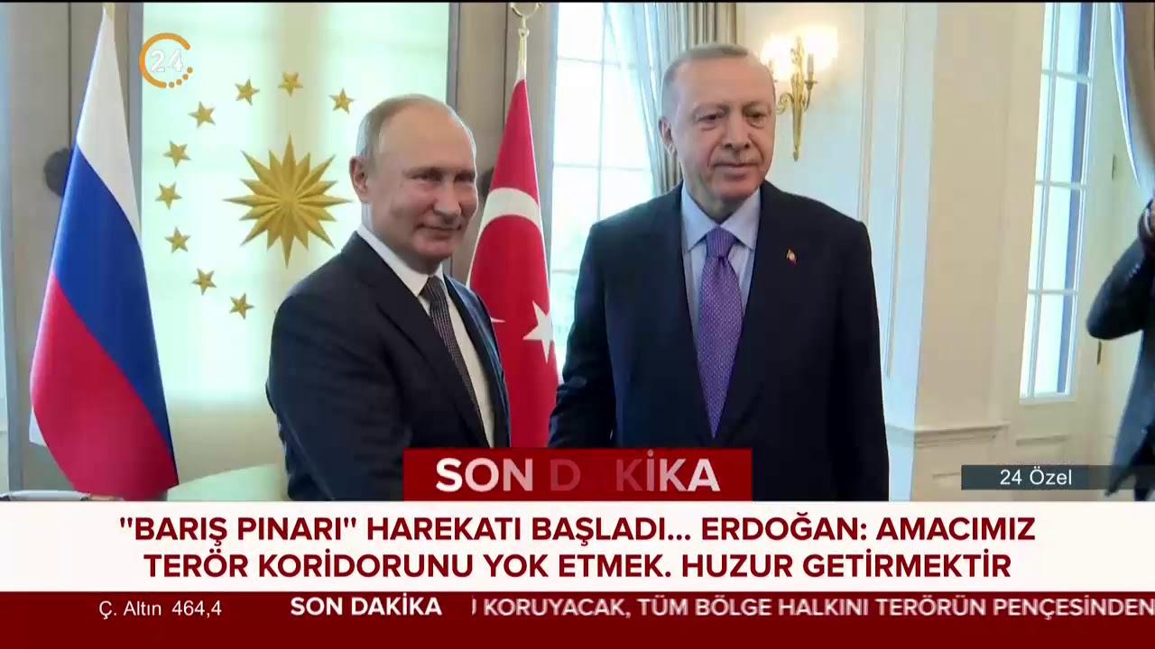 Cumhurbaşkanı Erdoğan, Putin ile #BarışPınarıHarekatı'nı görüştü