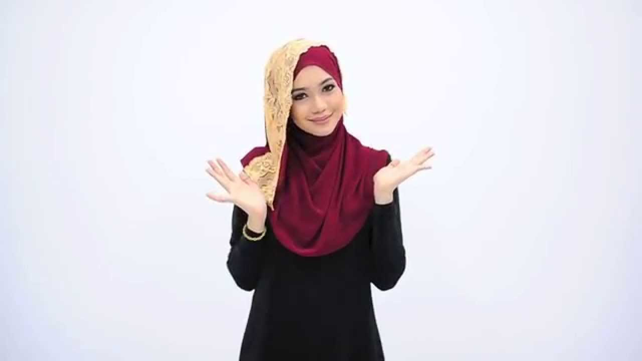 Lace Htutorial Hijaber This Is A Beautiful Black Hijab Lined