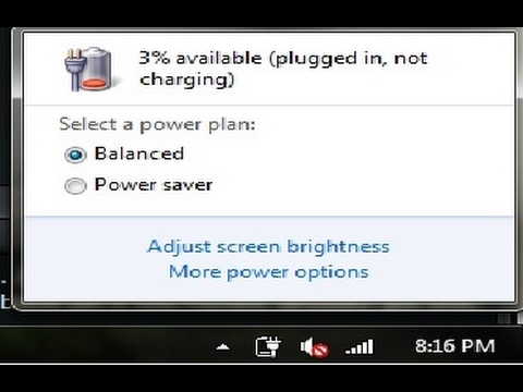 FIXED! Windows 7/8/10 Plugged In, Not Charging (2017)