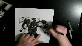 Drawing Tex Vs Meta of Red Vs Blue - Sped Up Drawings