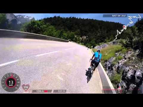 Alpe d'Huez op fietsen met Go-Pro