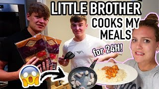 MY LITTLE BROTHER COOKED ALL MY MEALS FOR 24H *and it was a mess*