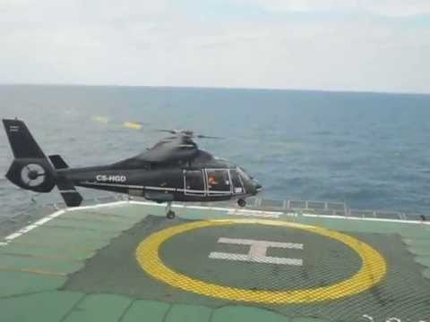 Offshore Black Sea - Helicopter taking off from GSP Jupiter rig