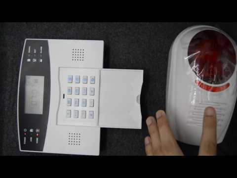 How to set the wireless siren to the M2B alarm system