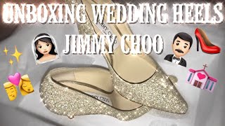 UNBOXING WEDDING HEELS | JIMMY CHOO
