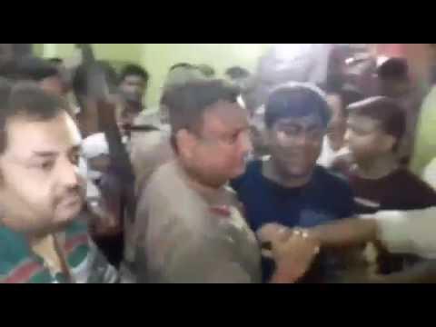TMC-Congress clash at Baharampur municipality office