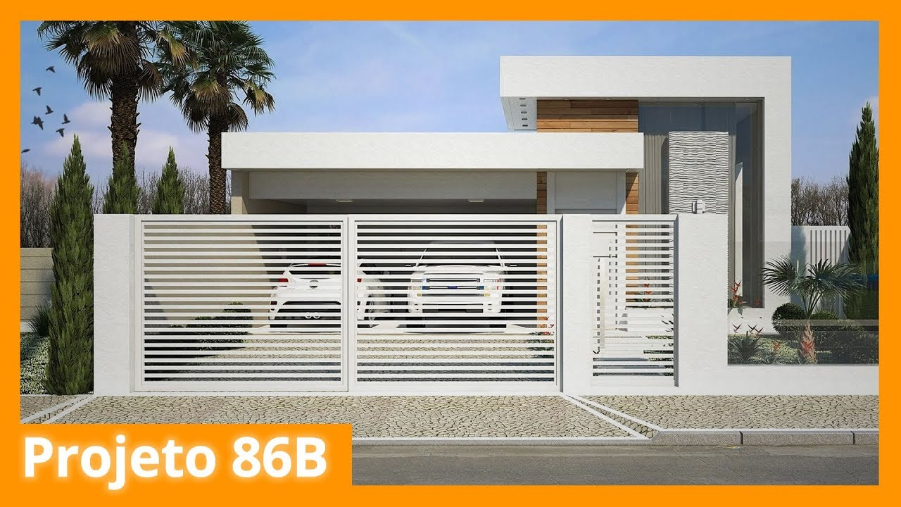 Modelo De Casa Térrea Moderna 86b