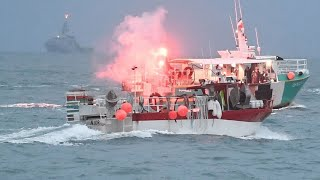 video: Politics latest news: French naval patrol ship heads to Jersey as fisherman blockade capital