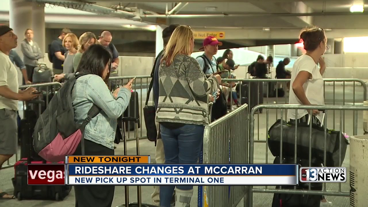 As competition heats up between rideshare and taxis Las Vegas airport makes  changes for convenience