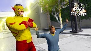 Kid Flash Stopping Crimes ! New Hero of Central City ! (GTA 5 Ultimate Flash Mod Gameplay)🏃🏽⚡️