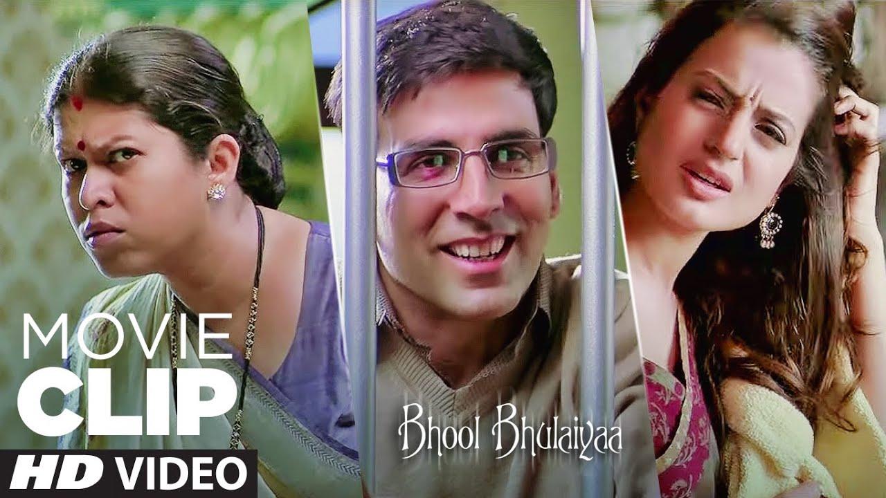 Woh Yaha Kya Kr Raha Tha? | Bhool Bhulaiyaa | Movie Clip | Akshay Kumar, Vidya Balan, Ameesha Patel,