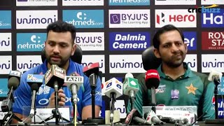 India vs Pakistan Asia Cup 2018 | Rohit Shaema and Sarfaraz Ahmed press conference Asia cup 2018