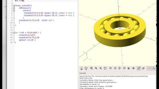 OpenSCAD - Model a Bearing in less than ten minutes.