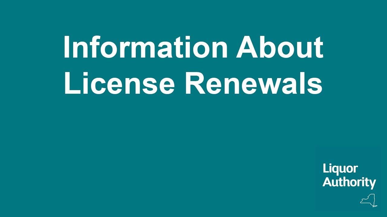 Renew Your License | Liquor Authority