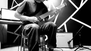 lou adams shredding around on his strandberg boden 8