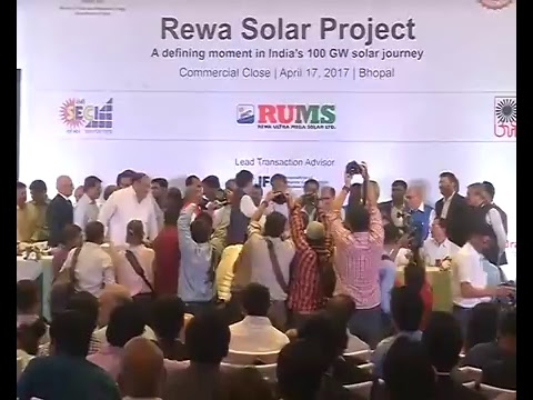 Speaking at PPA Signing of Rewa Solar Power Project, Bhopal
