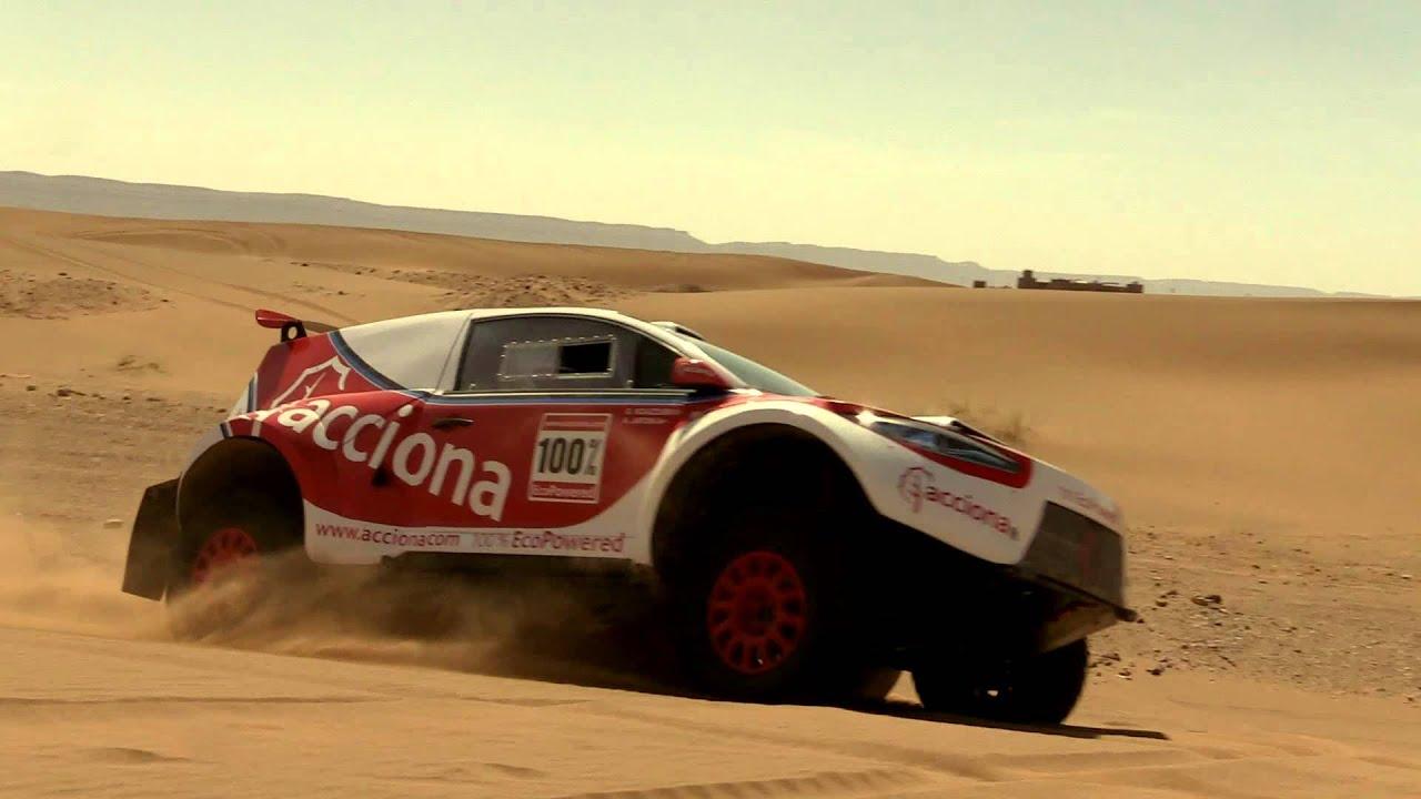 El coche ACCIONA 100% EcoPowered en el Rally OiLibya de Marruecos