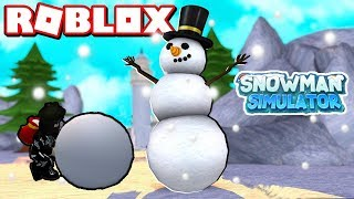 ☃ ❄ ❄ ️ ️ ️ ️ Snowman ☃ SNOW HOLIDAY BEGINS the GAME Simulator/Roblox Turkish