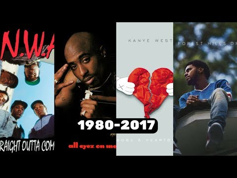 Best Rap Album Of Each Year (1980-2017)