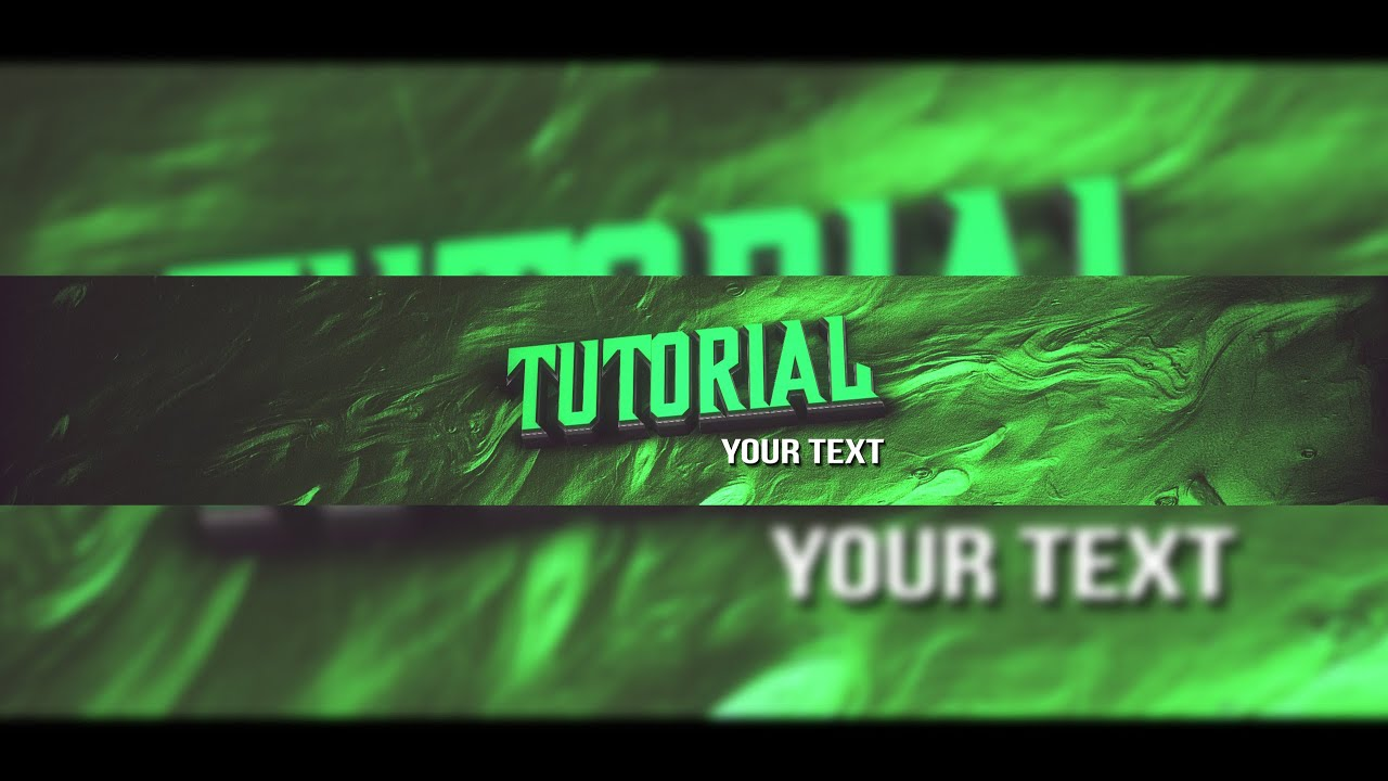 After Effects TUTORIAL: How to create a YouTube Banner (GERMAN IN ...
