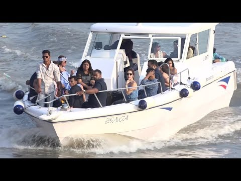 Bollywood celebs arrive from Alibaug after SRK'S 52nd Birthday Bash