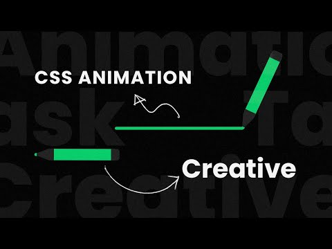CSS Creative Pencil Animation Effects Task | Html5 CSS3