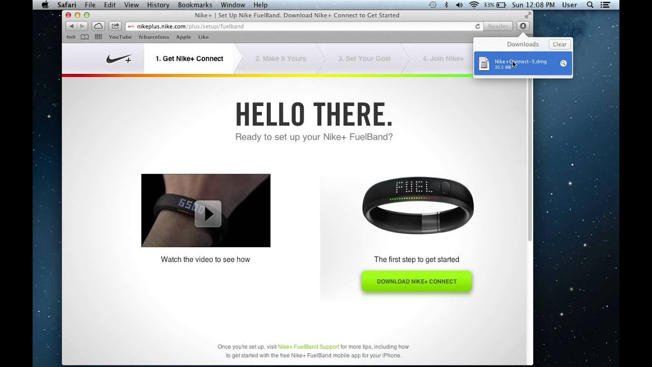 how to change your goal for nike fuelband - YouTube