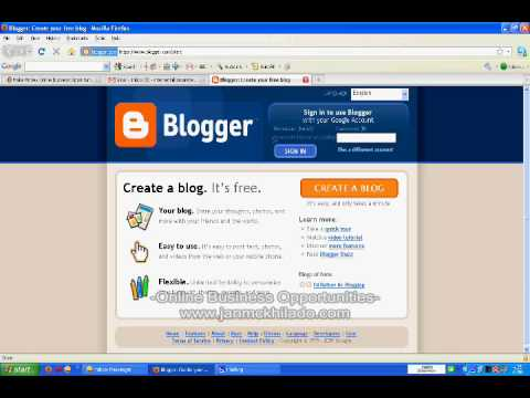 How To Make A Blog In Blogger.com Using Your Gmail Google Account
