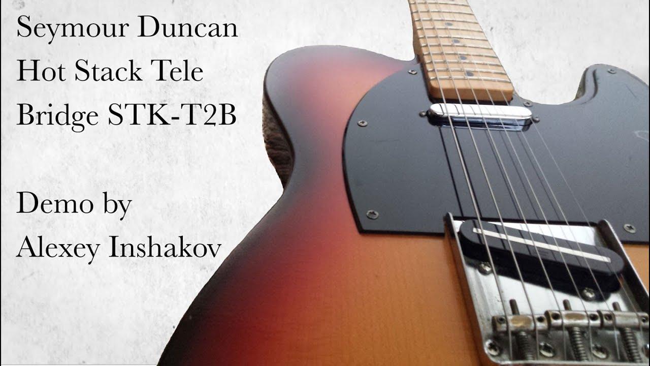 Seymour Duncan Hot Stack Tele - BRIDGE STK-T2B - tele pickup demo ...